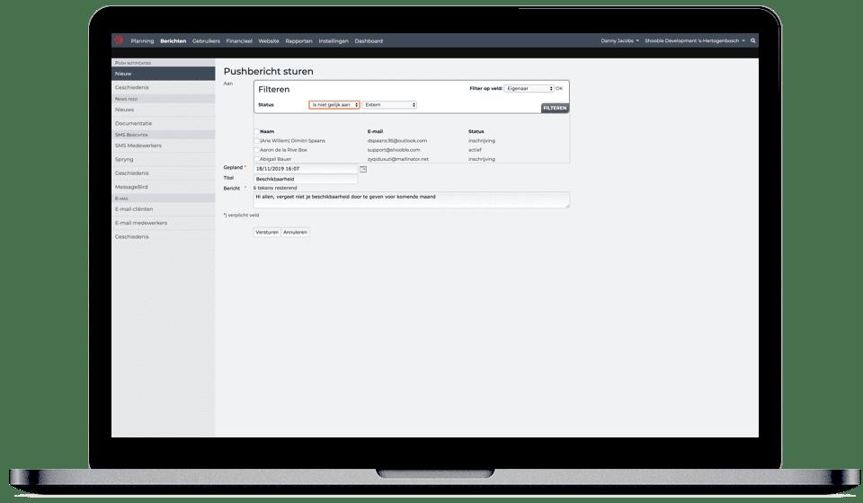 Een Plansysteem Met Automatisch Chatberichten