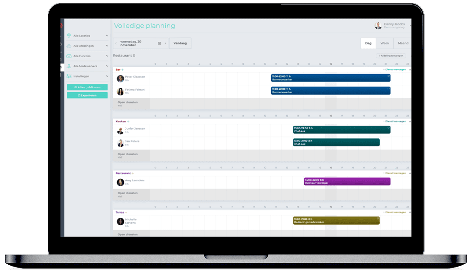 Online Plansysteem Shiftmanager